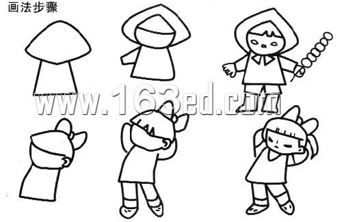 人物简笔画画法19—幼儿园学习网