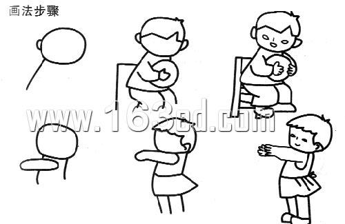 人物简笔画画法18—幼儿园教案网