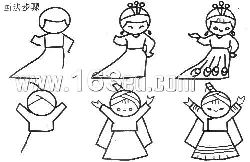 人物简笔画画法11—幼儿园教案网