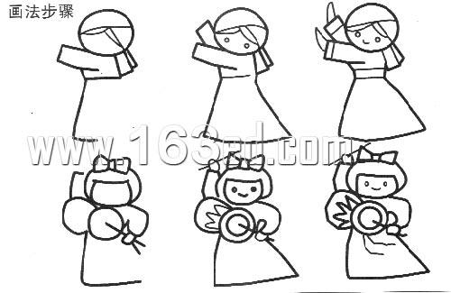 人物简笔画画法10—幼儿园教案网