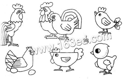 动物简笔画 小鸡2