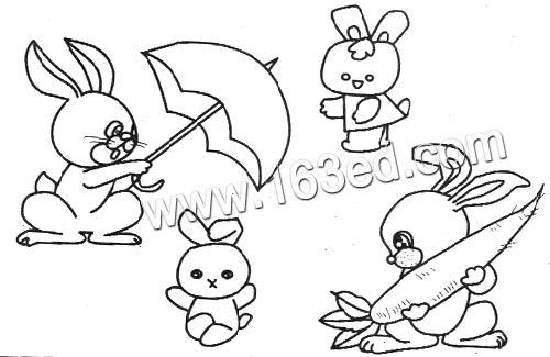 动物简笔画 小兔子4