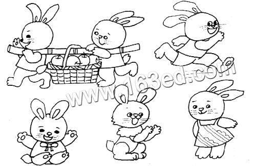 动物简笔画:小兔子2—幼儿园教案网
