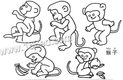 猴子的简笔画法