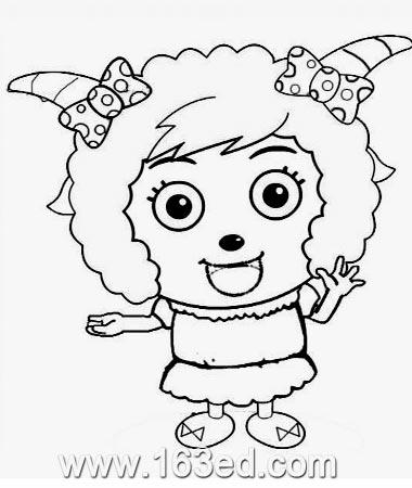 喜羊羊简笔画 美羊羊0