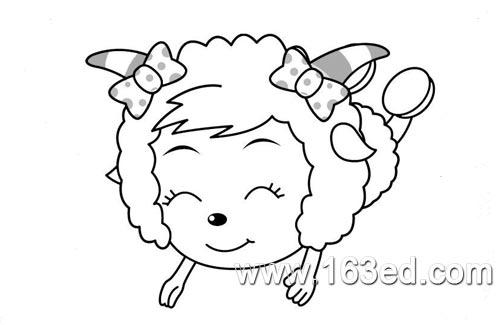 喜羊羊简笔画 美羊羊1
