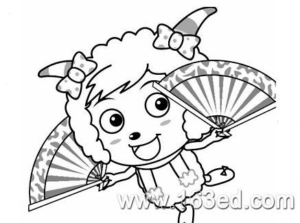 喜羊羊简笔画 美羊羊4