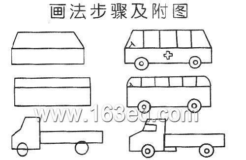 交通工具简笔画:卡车—幼儿园教案网