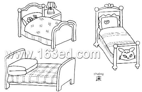 日用品简笔画:床—幼儿园教案网