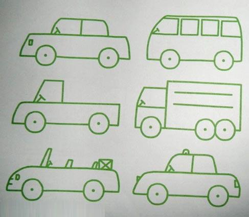 简笔画教案 大货车3
