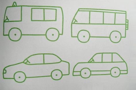 简笔画教案 小汽车2高清图片
