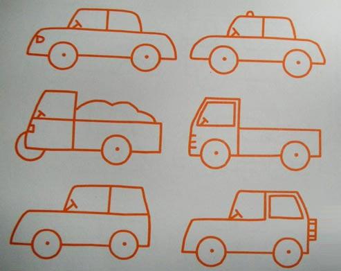 简笔画教案:小汽车3—幼儿园教案网