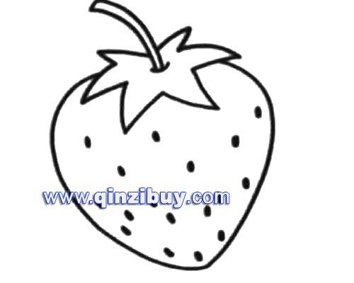水果简笔画:草莓6—幼儿园教案网