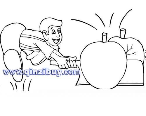 水果简笔画:苹果4