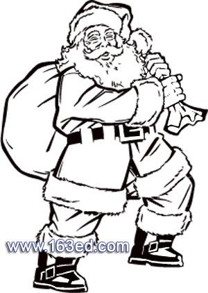 简笔画 圣诞老人17