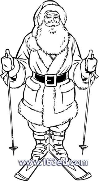 简笔画 圣诞老人23