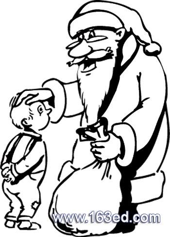 简笔画 圣诞老人29