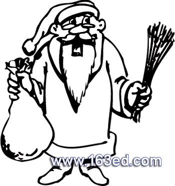 简笔画 圣诞老人44