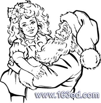 简笔画 圣诞老人45