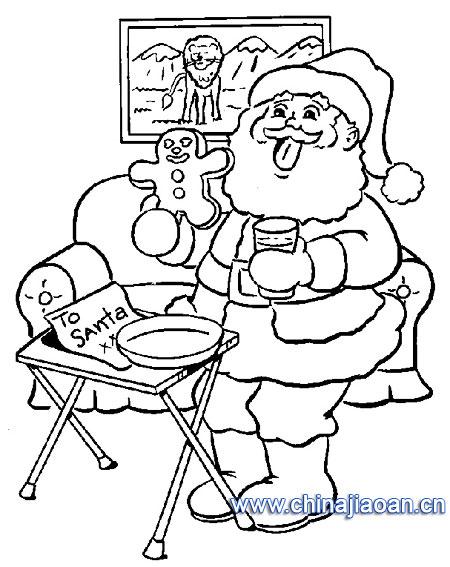 圣诞老人简笔画48