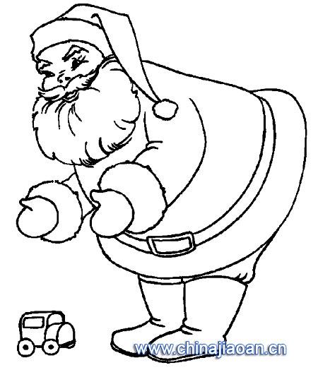 圣诞老人简笔画52—幼儿园教案网