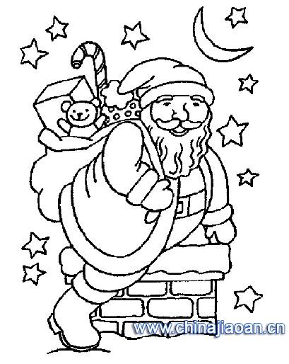 圣诞老人简笔画58