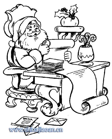 簡筆畫:圣誕老人61—幼兒園教案網