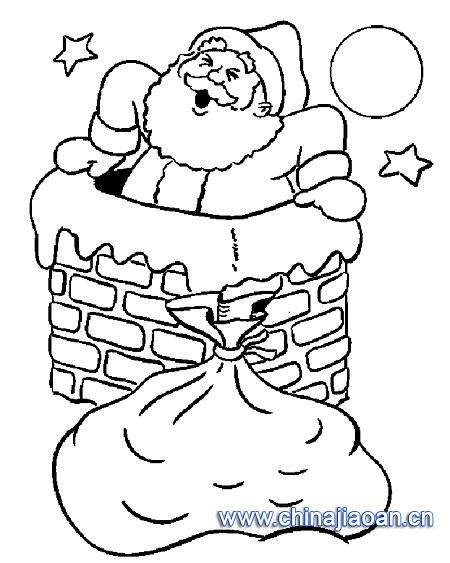 简笔画:圣诞老人67—幼儿园教案网