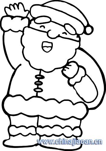简笔画 圣诞老人68