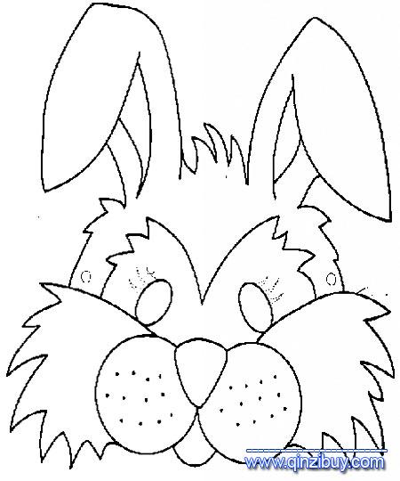 兔子头像的简笔画