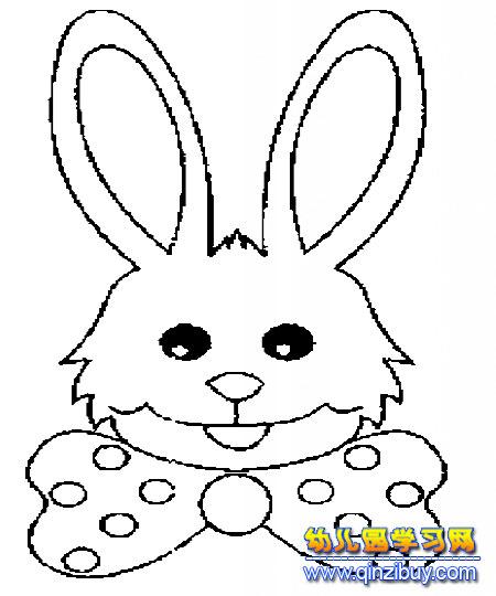 可爱小兔子简笔画4;; 微笑兔子头像简笔画2; 兔子简笔画_安东尼兔子简