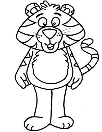 简笔画:老虎9—幼儿园教案网