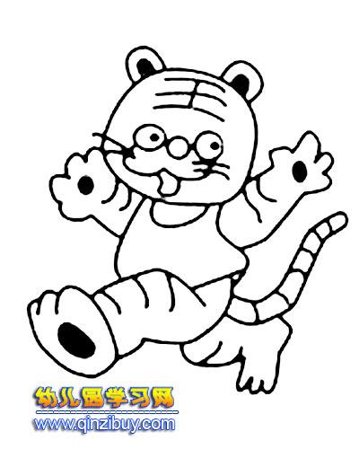 可爱的小老虎简笔画
