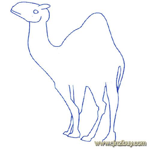 动物简笔画 一只 骆驼 9 幼儿园教案网