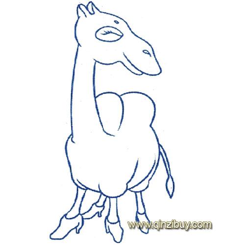 动物简笔画 一只骆驼8
