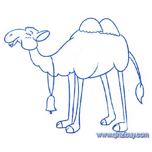 动物简笔画 一只骆驼4