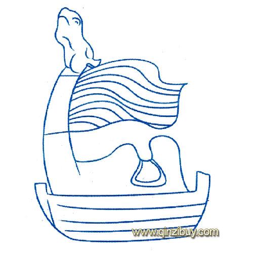 动物简笔画 坐着的骆驼3