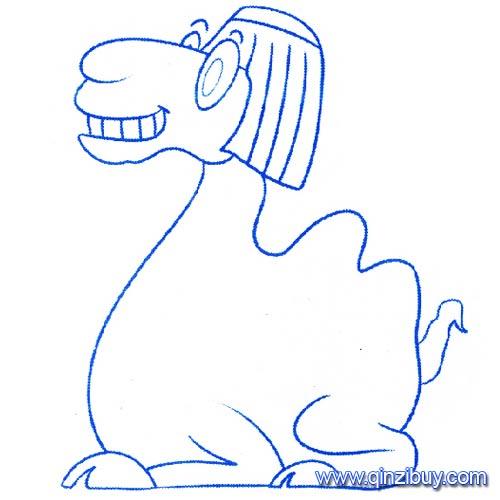 动物简笔画 坐着的骆驼1