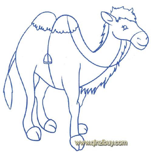 动物简笔画: 站立 的骆驼3—幼儿园教案网