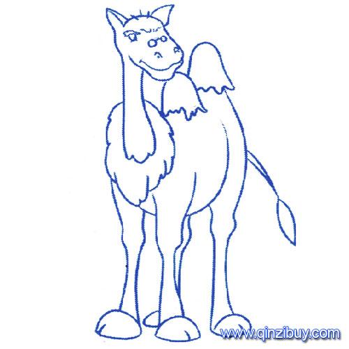 动物简笔画 站立的骆驼1