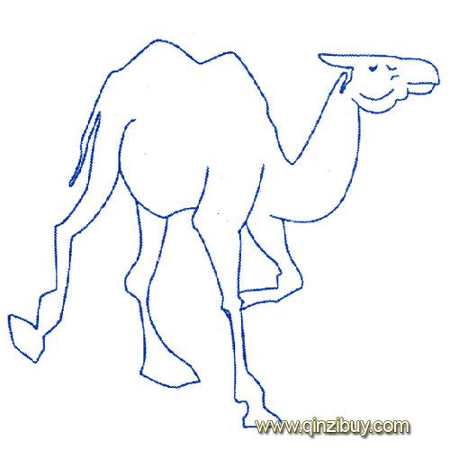 动物简笔画 散步的骆驼2