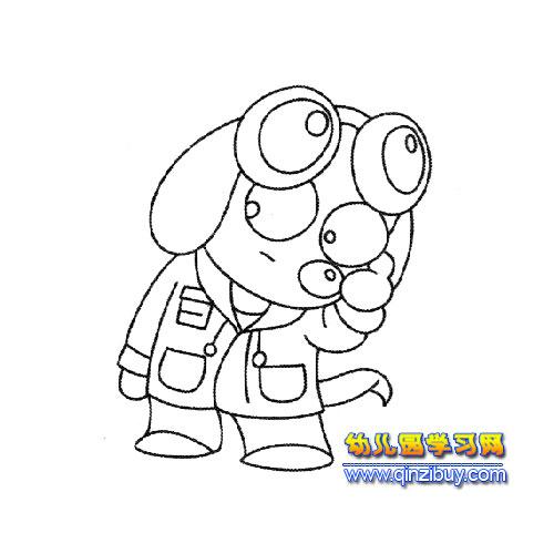 搞怪的小狗简笔画4