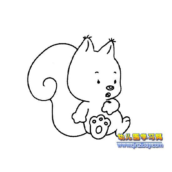 跌倒的小松鼠简笔画