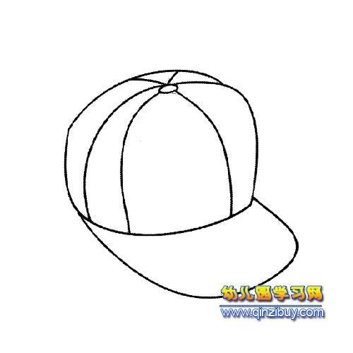 运动帽简笔画4—幼儿园教案网