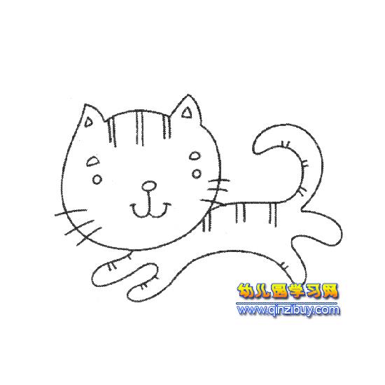 简笔画猫的画法 qq表情系列图片