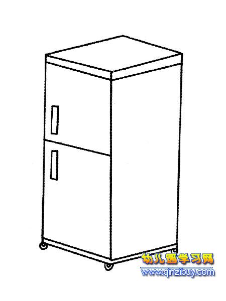 立体式冰箱简笔画1
