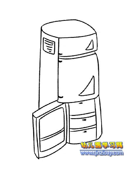 三开门冰箱简笔画1