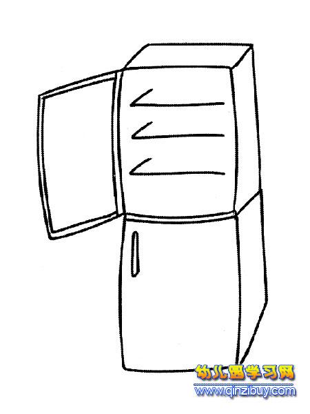 简笔画 一台冰箱2