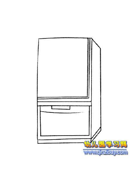 立体式冰箱简笔画2