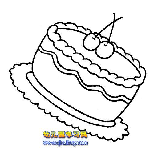 水果蛋糕简笔画6